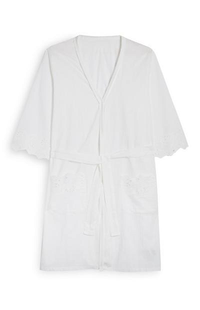 White Shifley Embroidered Robe