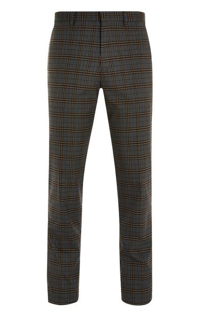 Slim Checked Trousers