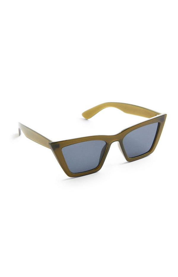 Green Square Cat Eye Sunglasses