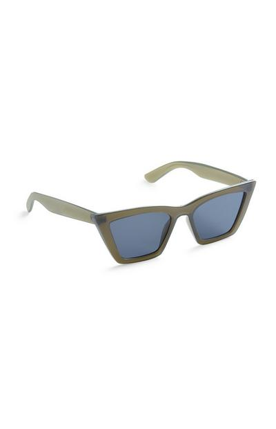 Green Square Cateye Sunglasses