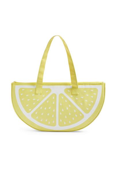Yellow Lemon Shaped Cooler Bag