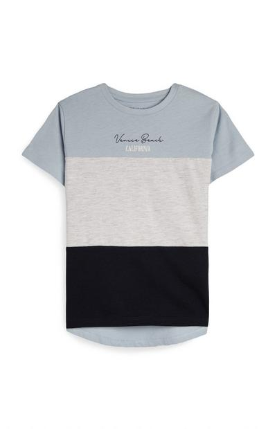 Younger Boy Blue Cut And Sew T-Shirt