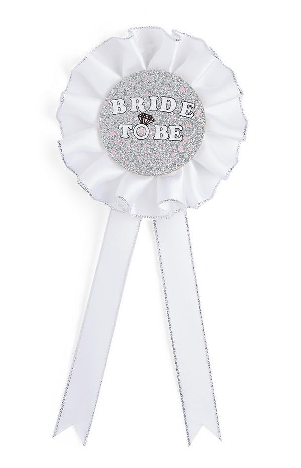 "Silberfarbener ""Bride To Be"" Anstecker"