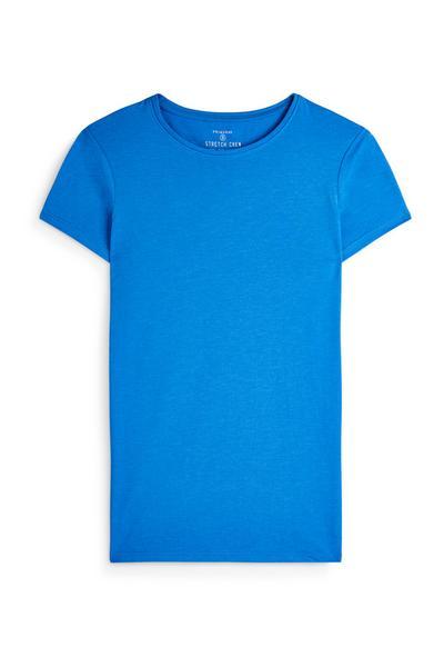 Blue Crew Neck Short Sleeve T-Shirt