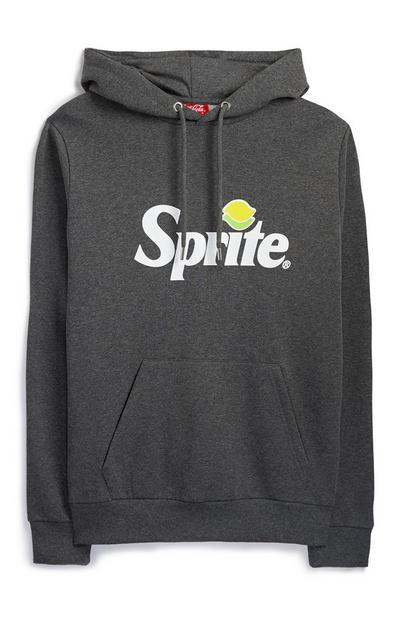 Siv pulover s kapuco in napisom Sprite