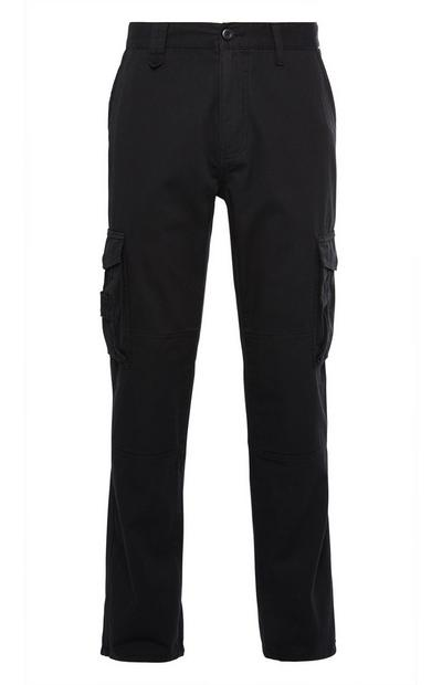 Black Tech Cargo Trousers