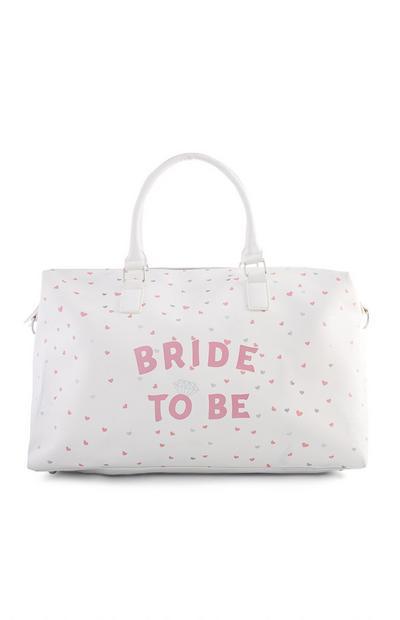 Bride To Be Heart Print Weekender Bag