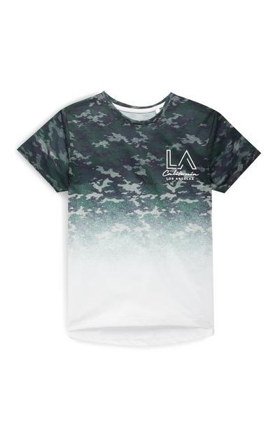 T-shirt LA met camouflageprint voor jongens