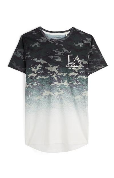 Older Boy Faded Camouflage T-Shirt