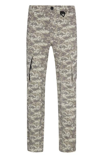 Light Khaki Camoflague Cargo Trousers