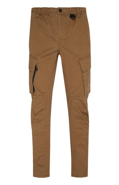 Pantalon cargo technique tabac