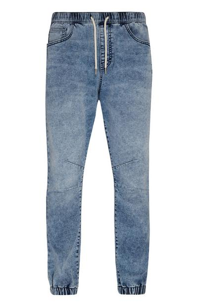 Jogginghose in Denim-Optik