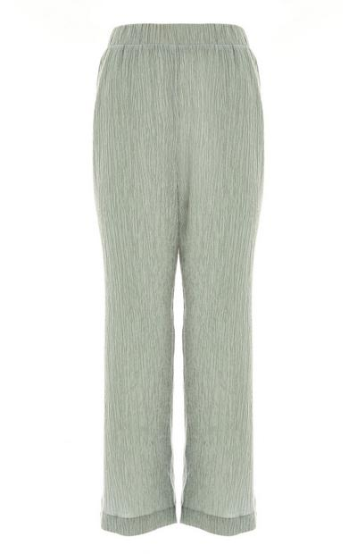 Mint Green Crinkle Culottes