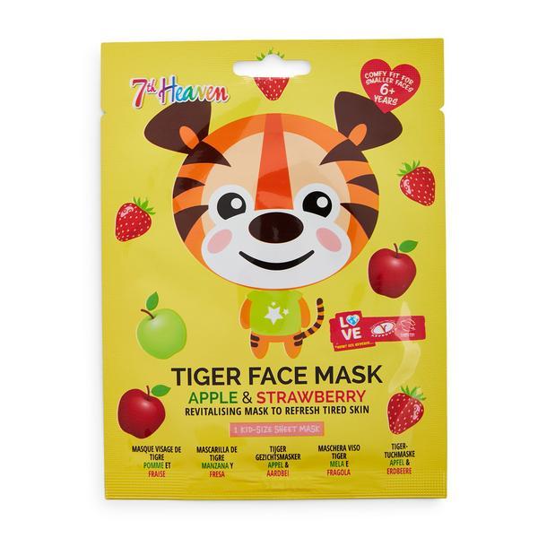 7th Heaven Gesichtsmaske mit Tiger-Print, Apfel und Erdbeere