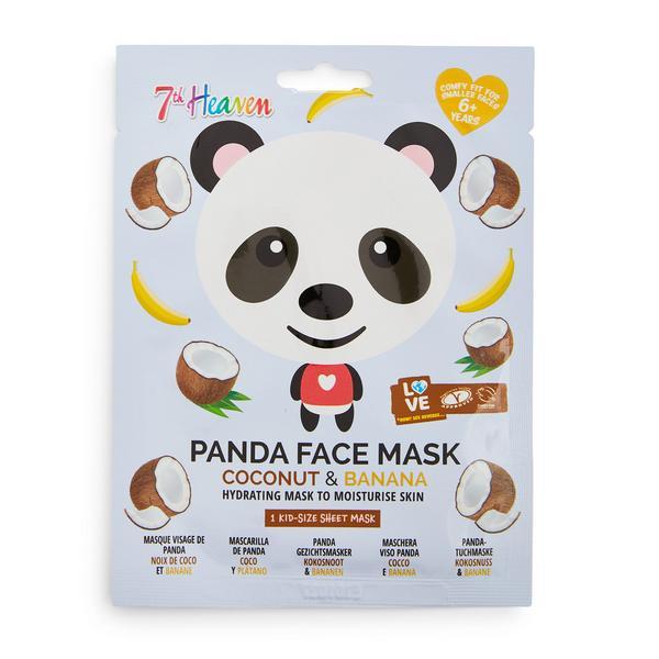 7th Heaven Gesichtsmaske mit Panda-Print, Kokosnuss und Banane