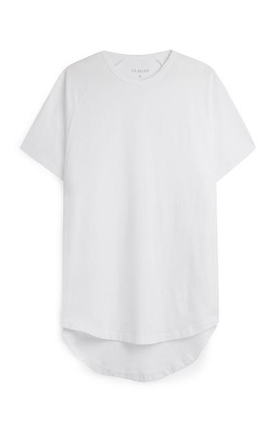 Camiseta larga elástica blanca
