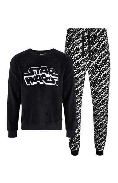 """Schwarz-weißer, weicher """"Star Wars"""" Pyjama, 2er-Pack"""