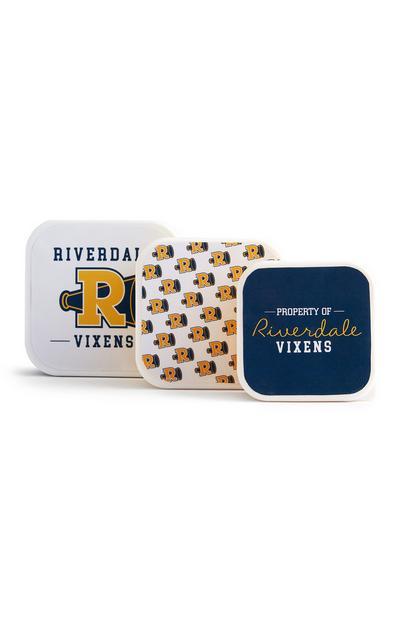 Pack 3 tupperware Riverdale amarelo