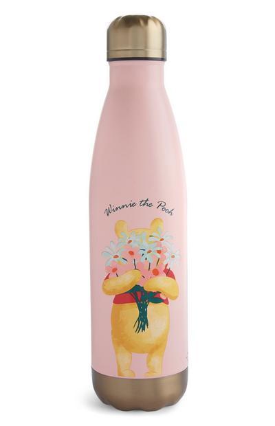Garrafa água Winnie The Pooh cor-de-rosa