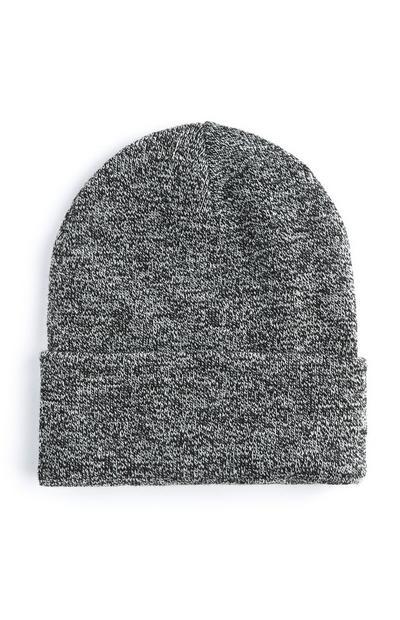 Bonnet profond gris à revers