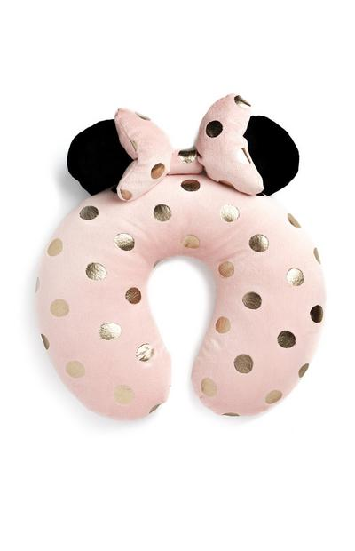 Minnie Mouse Pink And Gold Travel Pillow