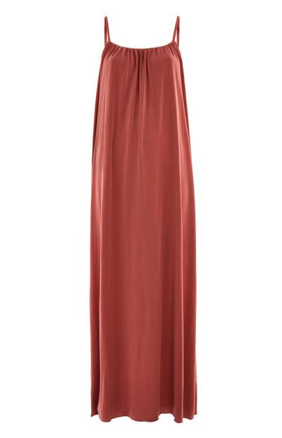 Red Strappy Modal Maxi Dress
