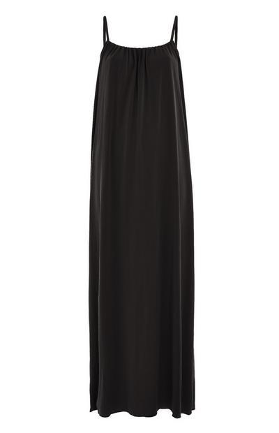 Black Strappy Modal Maxi Dress