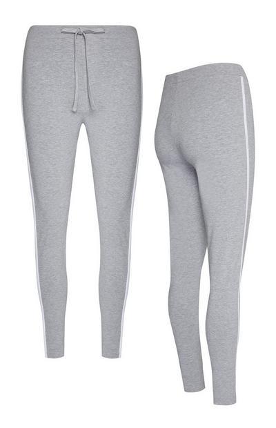 Graue Jogginghose mit Seitenstreifen