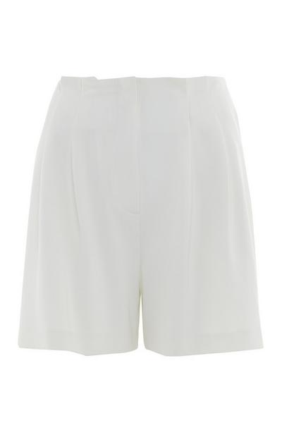 White Twill Shorts