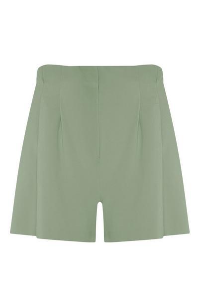 Light Green Twill Shorts