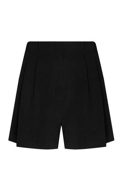 Black Twill Shorts