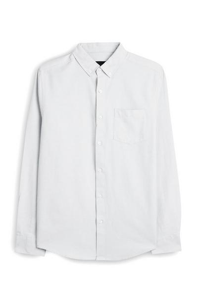 Chemise blanche boutonnée à manches longues
