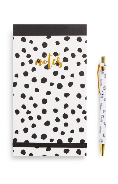Black and Gold Dalmation Stationery