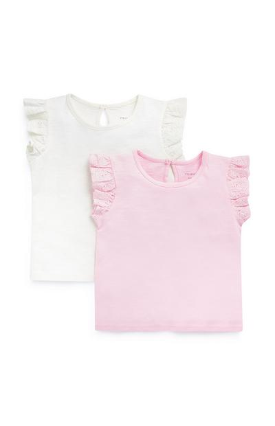 Baby Girls T-Shirts 2 Pack