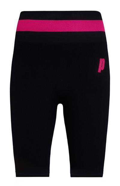 Pantalón corto de ciclismo rosa y negro Prince