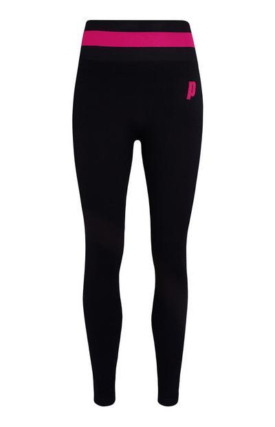 Zwart-roze legging Prince