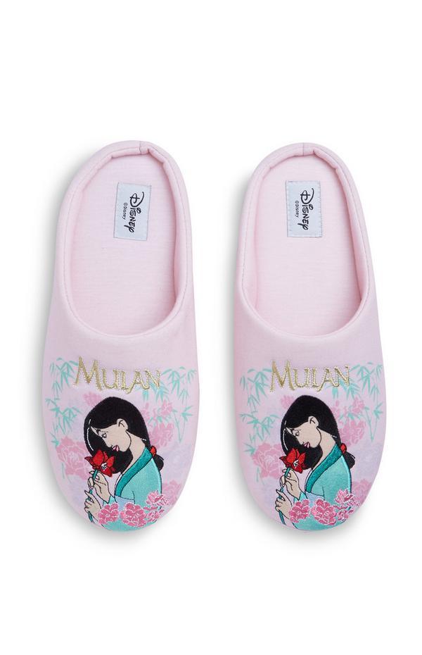 Roze pantoffels met Mulan