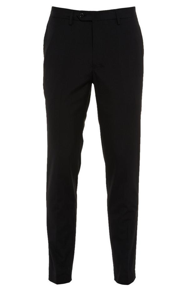 Pantalon noir boutonné