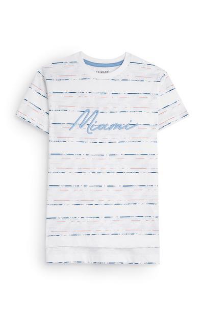 Younger Boy Miami Stripe T-Shirt