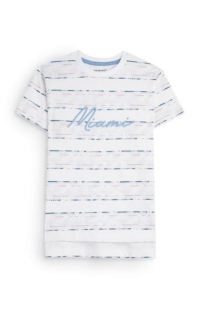 Younger Boy Miami Striped T-shirt