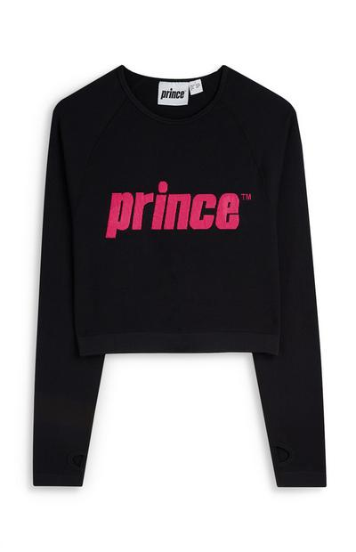 Prince Black And Pink Cropped Jumper