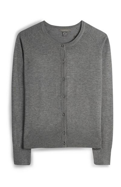 Cardigan gris boutonné