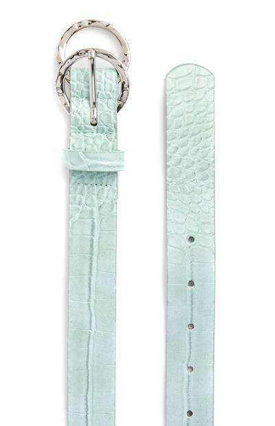 Mint Green Mini Overlapping Infinity Buckle Belt