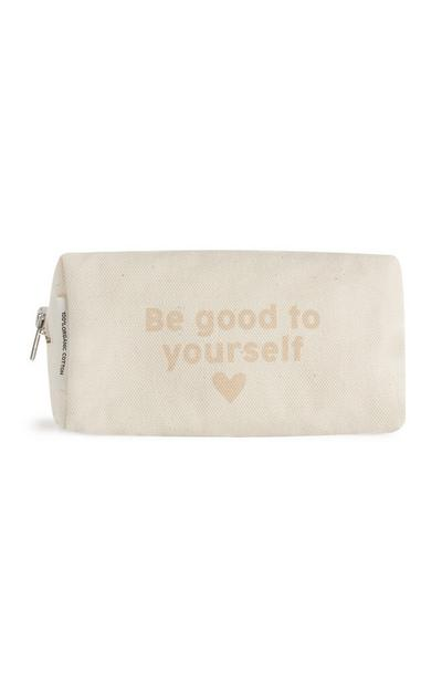 Organic Cotton Canvas Slogan Makeup bag