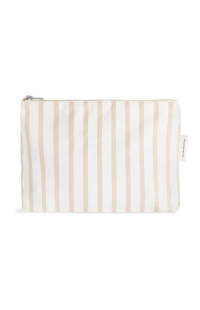 Organic Cotton Stripe Wash Bag