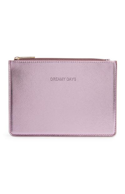 Borsellino rosa piatto metallizzato Dreamy Days