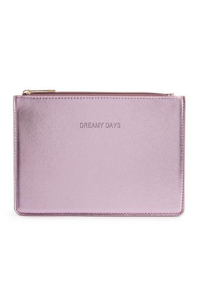 Porte-monnaie plat rose métallisé Dreamy Days