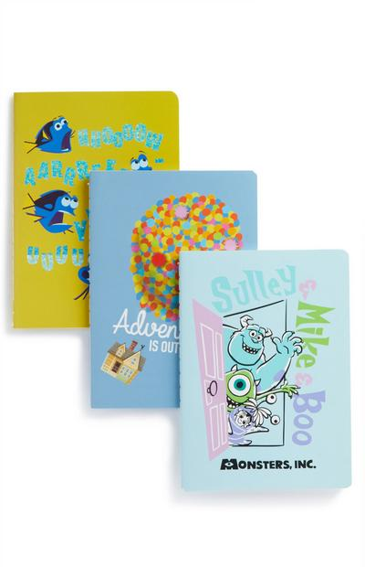Lot de 3 carnets films Pixar