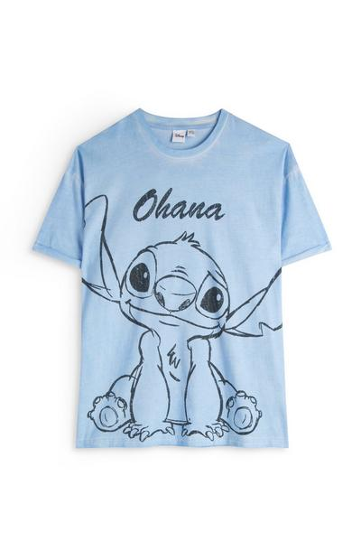 T-shirt corte largo Lilo And Stitch azul