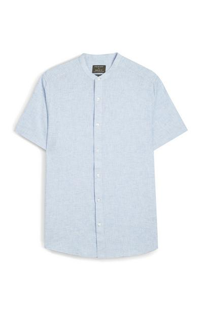 Blue Short Sleeve Button Up Shirt